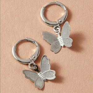 🆕 Silver Butterfly Earrings